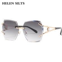 Солнцезащитные очки без оправы большого размера женские новые