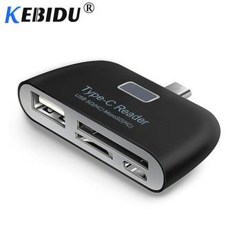 Kebidu 3 in1 Adapter karty pamięci USB 3 1 typu C USB-C TF SD czytnik kart OTG dla Macbook tablet z funkcją telefonu karty czytelników tanie i dobre opinie All in 1 multi w 1 Zewnętrzny Karty SD Micro SD TYPE-C