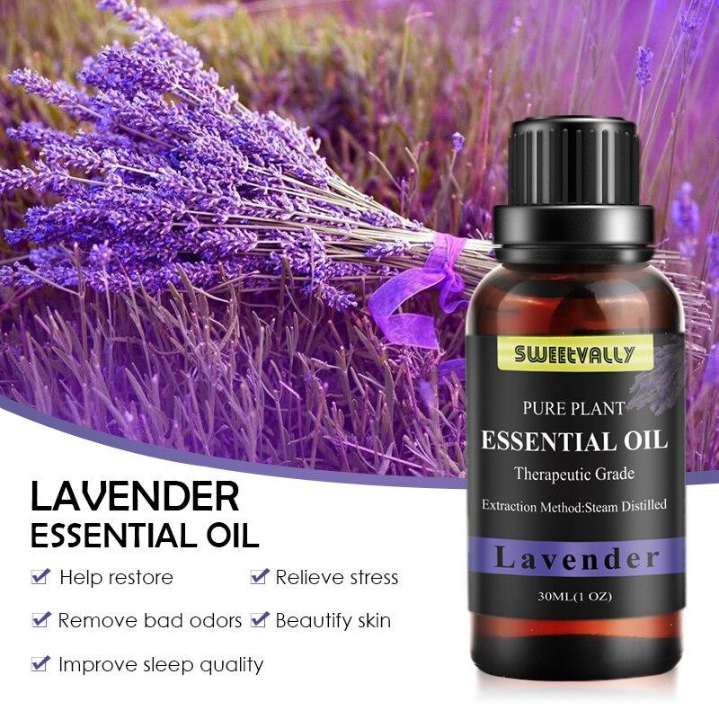 Sweet vally 30ML lavande arôme humidificateur Pour diffuseurs soins de la peau huile de parfum soulager le Stress aromathérapie huile essentielle