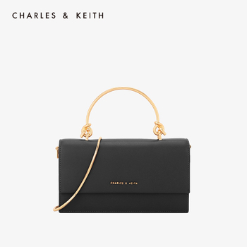 CHARLES&KEITH New Arrival for Spring 2020 CK6-10840136 Metal Handle Flip-open Long Wallet