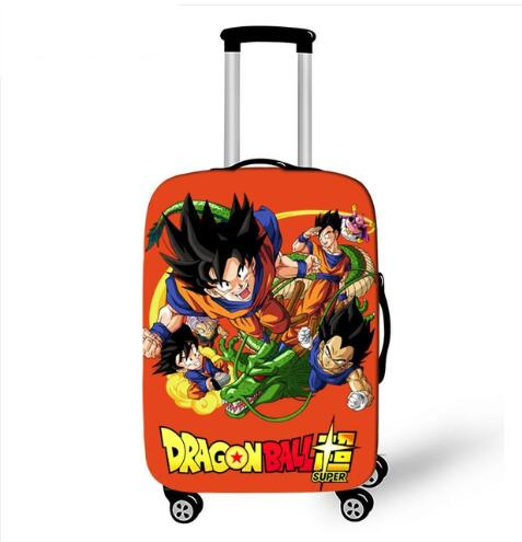 New Dragon Ball Prints Luggage Protective Cover Elastic Dust For 18 To 32 Inch Trunk Suitcase Travel Accessories