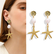 Bohemian Natural Shell Drop Earrings For Women DIY Ocean Pearl Sea Shell Conch Pendant Dangle Earring Female Boho Beach Jewelry цена