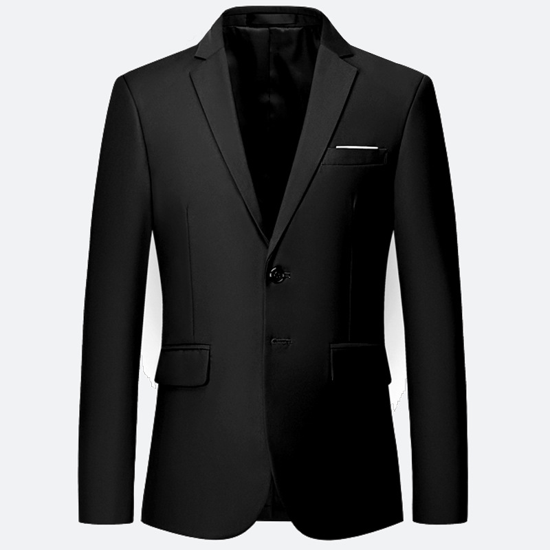 Hot Selling Solid Color Men Single Suit Business Two-Button One-Piece Marriage Security Staff Business Formal Wear Suit