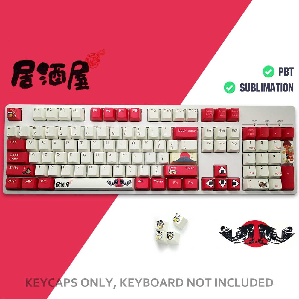 lowest price 108key PBT Ahegao Keycaps Dye Sublimation Hot Swappable OEM Profile For Cherry Mx Gateron Kailh Switch Mechanical Keyboard