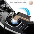 4-в-1 Hands Free Беспроводной Bluetooth FM передатчик G7 + AUX модулятор Автомобильный комплект MP3 плеер SD USB ЖК-дисплей автомобильные аксессуары 4