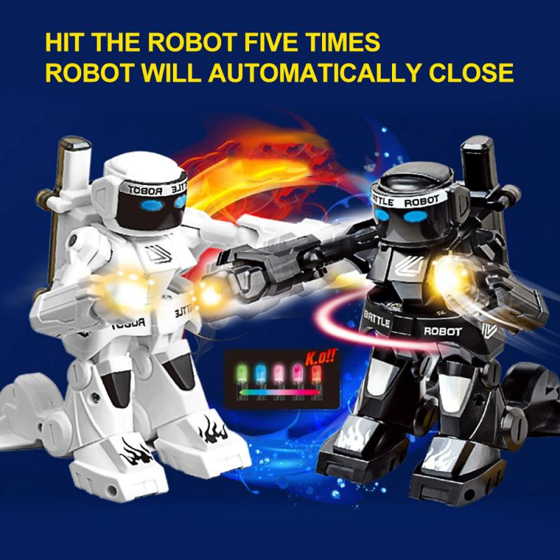 RC Robot Toy Combat Robot Control RC Battle 2.4G Somatosensory Remote Control Boxing Robot Fight Against intelligent Robot toys