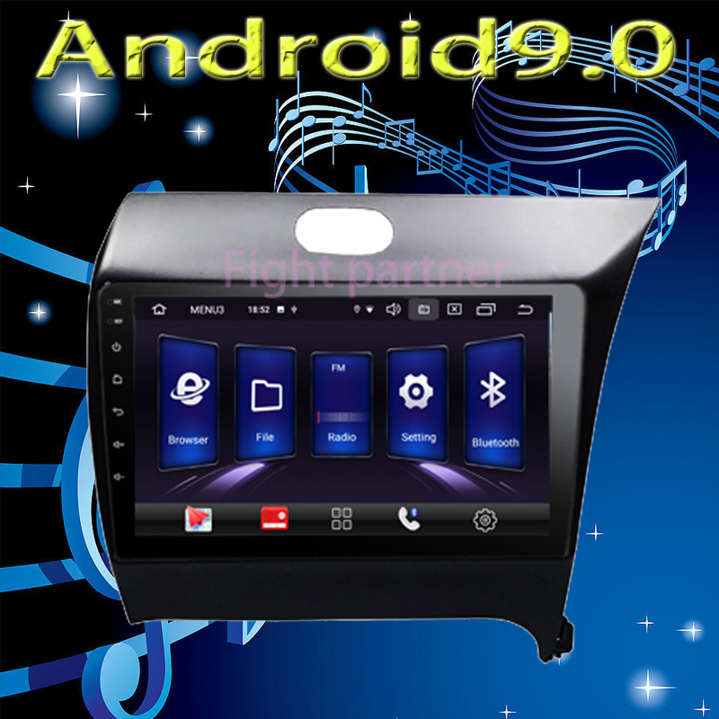 2.5D+IPS android 9.0 car radio gps player dvd For Kia K3 Cerato Forte 2012-2016 Right car multimedia navigation