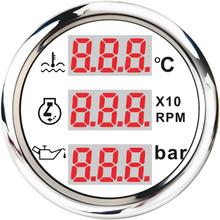 Car Digital Rpm Tachometer 52mm Water Temperature Gauge Oil Pressure Meter 3 in 1 Tacho Hourmeter For Motorcycle Voltmeter