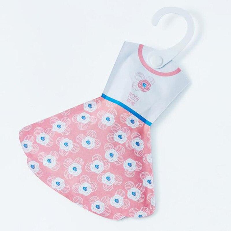 Ароматный аромат, прекрасный подвесной ароматизированный Саше, свежая одежда в форме юбки - Цвет: rose