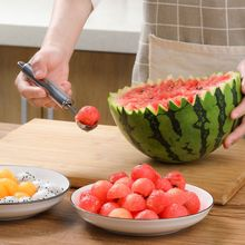 цена на Stainless Steel Kitchen Fruit Carving Tool Melon Spoon Knife Shapes Apple Cutter Watermelon Baller Citrus Peeler Kitchen Tools