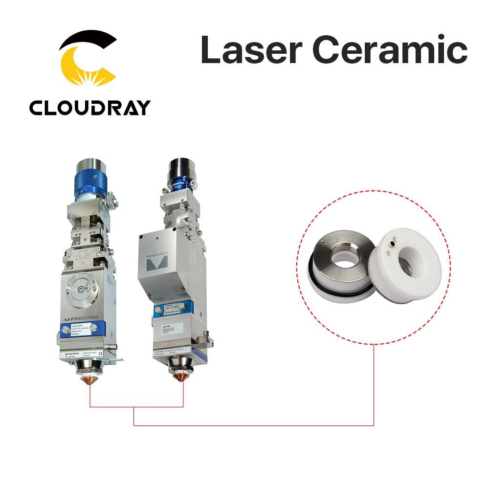 Купить с кэшбэком Cloudray Ceramic Parts Nozzle Holder OEM Pack of 5 Pcs P0571-1051-00001 For Laser Cutting Head 28mm/24.5mm