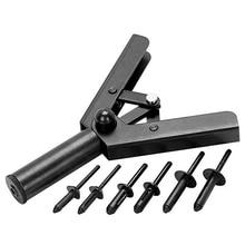 41 Pc Assorted Plastic Rivet Machine Puller Set Hand Tool W / 40 Poly Rivet