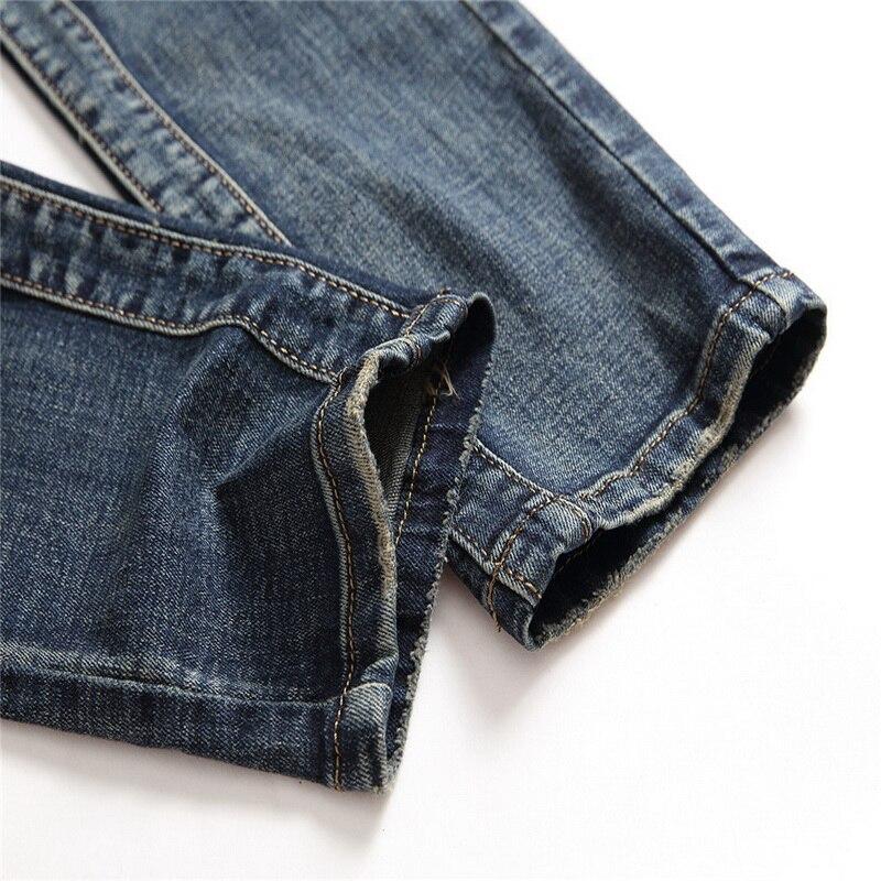 Denim Del Progettista Dei Jeans del Foro di Alta Qualità Strappato per il Formato Degli Uomini 28 38 40 2019 Autunno Inverno Più Velluto HIP HOP Punk Streetwear - 4