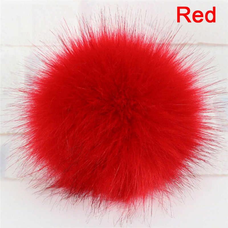 10CM Unisex Faux Raccoon Fake Fur Hair Ball Fluffy Pompom Hat Women Men Clothing Bag Shoes Cap Accessories Hanging Decor Gift