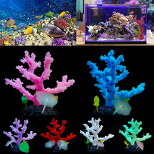 Luminous Sea Anemone Aquarium Decoration Fish Tank Ornament Artificial Coral D30