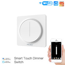 Tuya Smart Wifi Dimmer Light Switch EU Type, Touch Dimming Panel Wall Switch 100-240V, Support with Alexa Google Home
