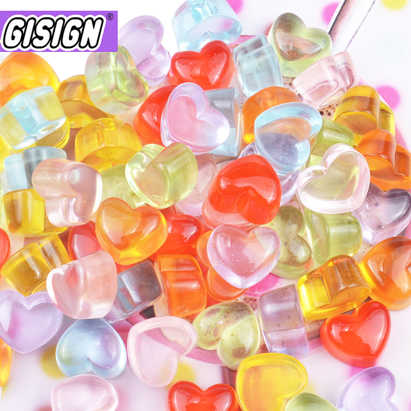 Resin Beads Addition For Slime Charms Love Polymer Filler Addition Slime Accessories Toys Lizun Clay Fishbowl Supplies Kids