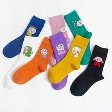 1 Paar Korea Funky Harajuku Trend Vrouwen Snoep Kleuren Casual Grappige Sokken Meisje Kawaii Sokken Unisex Verrassing Mid Vrouwen Crew sokken