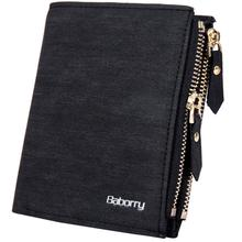 цены Double Zipper Coin Bag Short Type Men Wallets Money Male Small Purses Coin Card Pocket Pouch Holder Fashion Clutch Wallets Bags