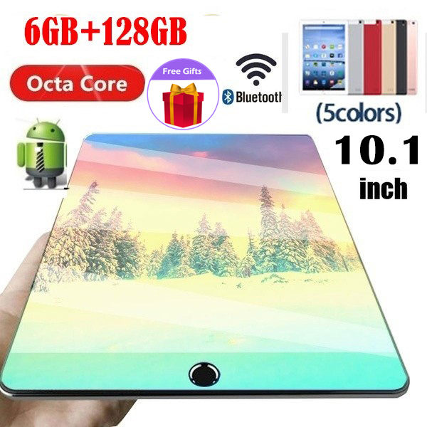 [Hot Sale] 10.1Inch Large Screen IPS Dual SIM 4G Phone WIFI Andriod 8.1 6GB + 128GB Gaming Tablet