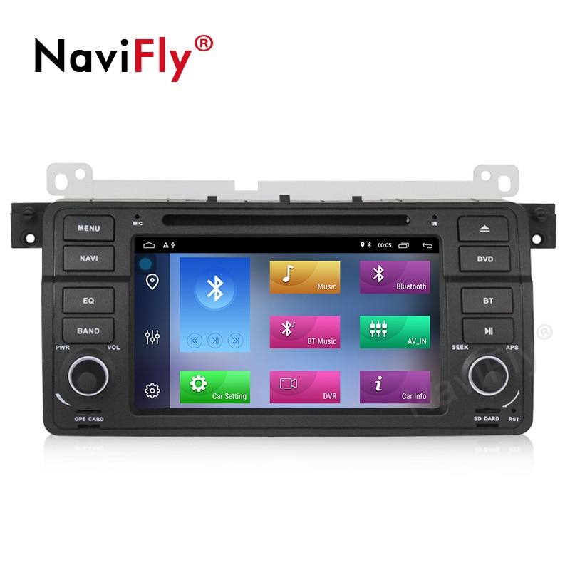 NaviFly Android 9.1 autoradio dvd gps pour BMW série 3 E46 M3 1998 2005 système stéréo unité de tête WIFI BT 2 + 32G lecteur multimédia - 2