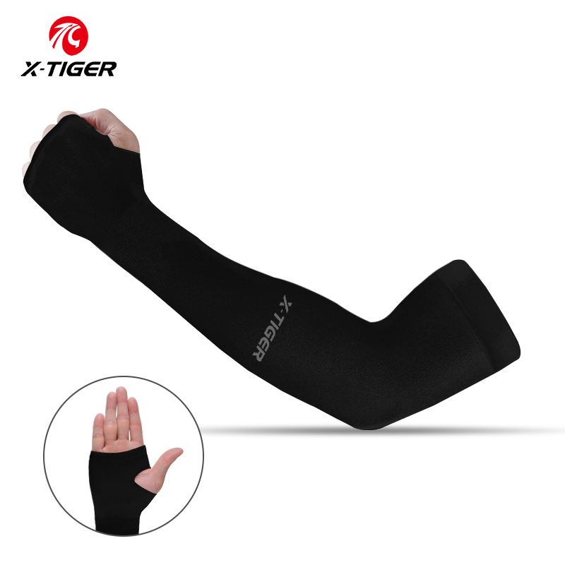 X-TIGER Cycling Arm Warmer Summer Ice Fabric Running Cycling Sleeves Unisex Breathable Sun Protection Volleyball Cuffs Covers