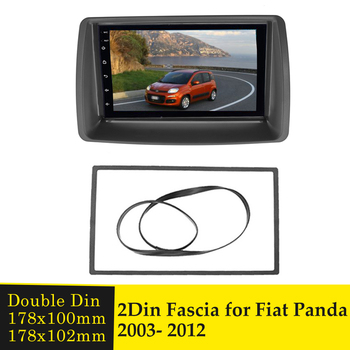 Double Din Fascia for FIAT Panda 2003-2012 Stereo Radio DVD Player Panel Dash Mount Installation Trim Kit Bezel Adapter Frame image