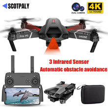 Profissional Mini 4K Drone P5 Obstacle Avoidance Dron WIFI FPV Dual Camera Fixed Height Fold RC Quadcopter Dron Helicopter Toy