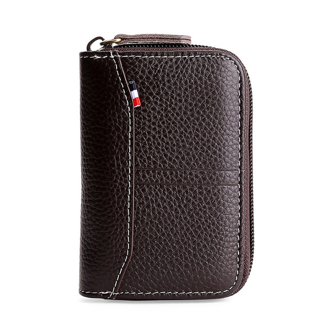 SOUTH GOOSE 2020 Fashion Genuine Leather Credit Card Holder RFID Blocking Men Business Card Wallet Women Card Set Small Purse