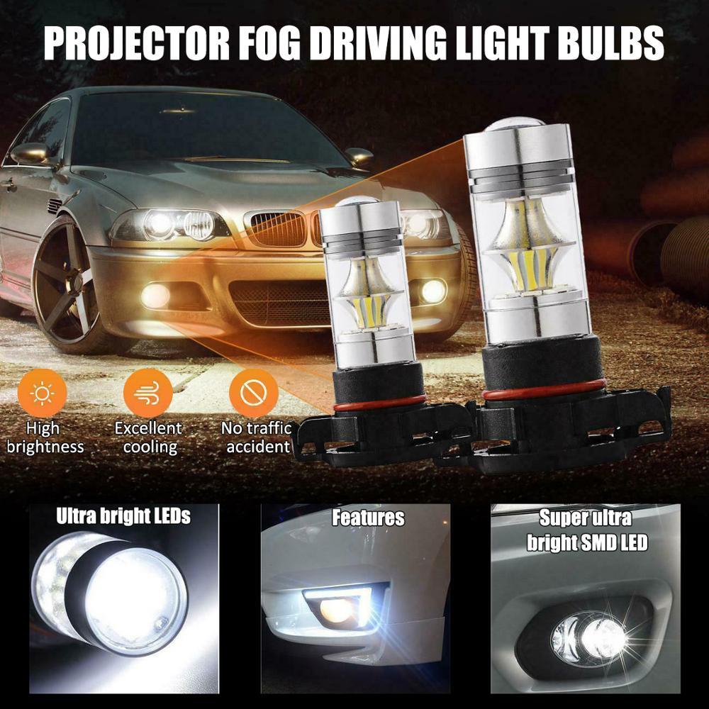 2PCS H11 H8 H9 LED Headlight Bulb Conversion Kit Bulbs High Power 6000K 100W Headlight Lamps Radiating Lamp Auto Near Far Beam
