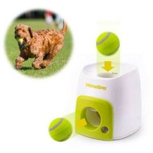 Double-hole Dog Tennis Food Reward Machine Pet Toy Dog Interactive Training Smart Feeder Tennis Leaker Balls Suitable For Cats