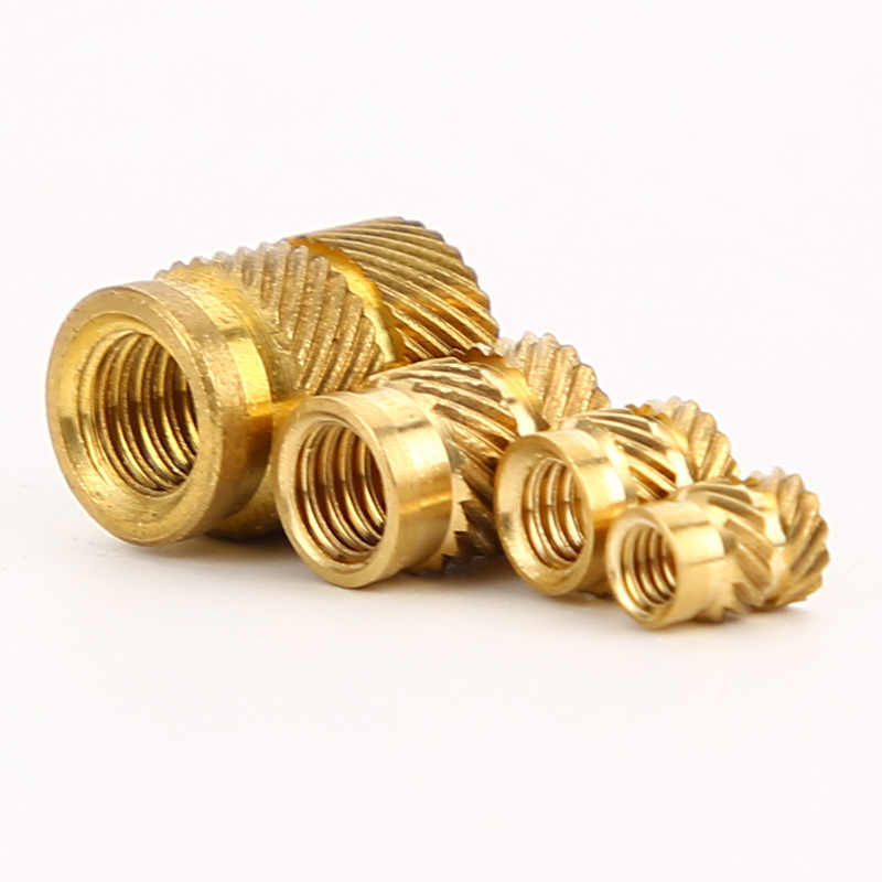 50pcs SL-Type Double Twill Knurled Injection Nut Brass Hot Metal Insets Heating