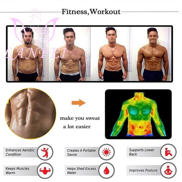 LANFEI Hot Neoprene Waist Trainer Trimmer Belt Body Shaper Sweat Slimming Belt Tummy Control Sport Gym Corset Fat Burner Girdle 1