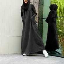 Платье zanzea женское длинное с капюшоном Свободный свитшот