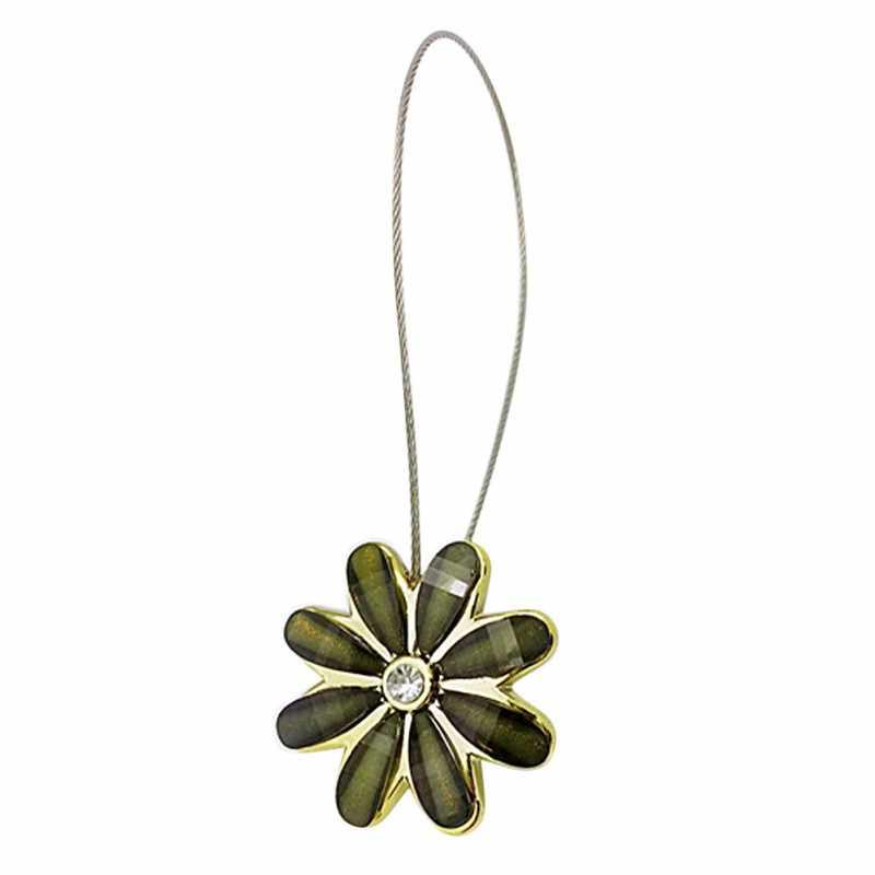 Noble fleur fil rideaux Tieback aimant rideaux boucle Installation gratuite magnétique support de rideau accessoires décor à la maison 2619