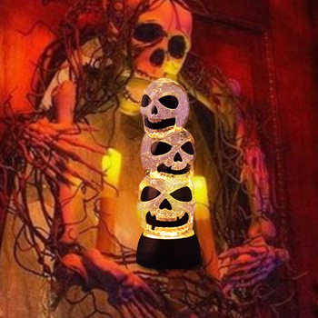 Halloween LED Shining Night Light Horror Glass Skeleton Ghost Hand Goblet Table Lamp Ghost Festival Decor Birthday Gifts - DISCOUNT ITEM  20% OFF Lights & Lighting