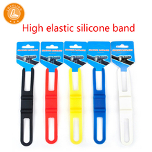 High elastic silicone rubber strap mountain bike cheap bicycle accessories lamp multifunctional