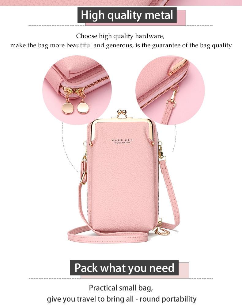 bolsa de ombro mini dupla camada carteira