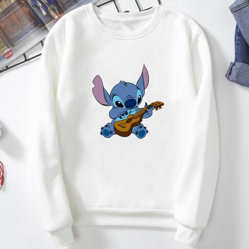 Women Casual Crewneck Sweatshirt Clothes Pullover Cartoon Printed Long Sleeve Sweatshirts