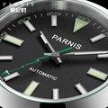 Parnis 40 мм Серебряный Чехол Мужские часы Механические сапфировое стекло Miyota 8215 Мужские автоматические часы relogios masculinos с коробкой
