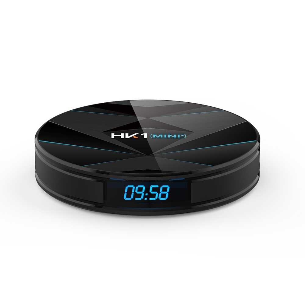 HK1 MINI Plus médias double WiFi avec télécommande haute définition Quad Core USB Smart 4K BT Stable TV Box réseau numérique
