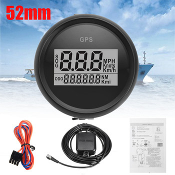 Stainless 52mm Digital GPS Speedometer Gauge 0~999 MPH Kmh Adjustable fit for Boat Car Motorcycle Speedometer with Backlight