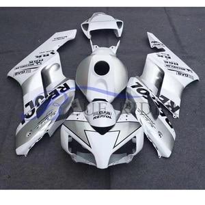Image 1 - รถจักรยานยนต์ตัวถังรถ Fairing สำหรับ Honda CBR1000RR 04 05สีเทาสีขาว Fairings ชุด CBR 1000RR 2004  2005