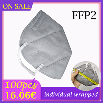 10-100 pcs ffp2mask individual wrapped MASK protection face mask Respirator anti dust adult protective face shield equal to FFP2 image