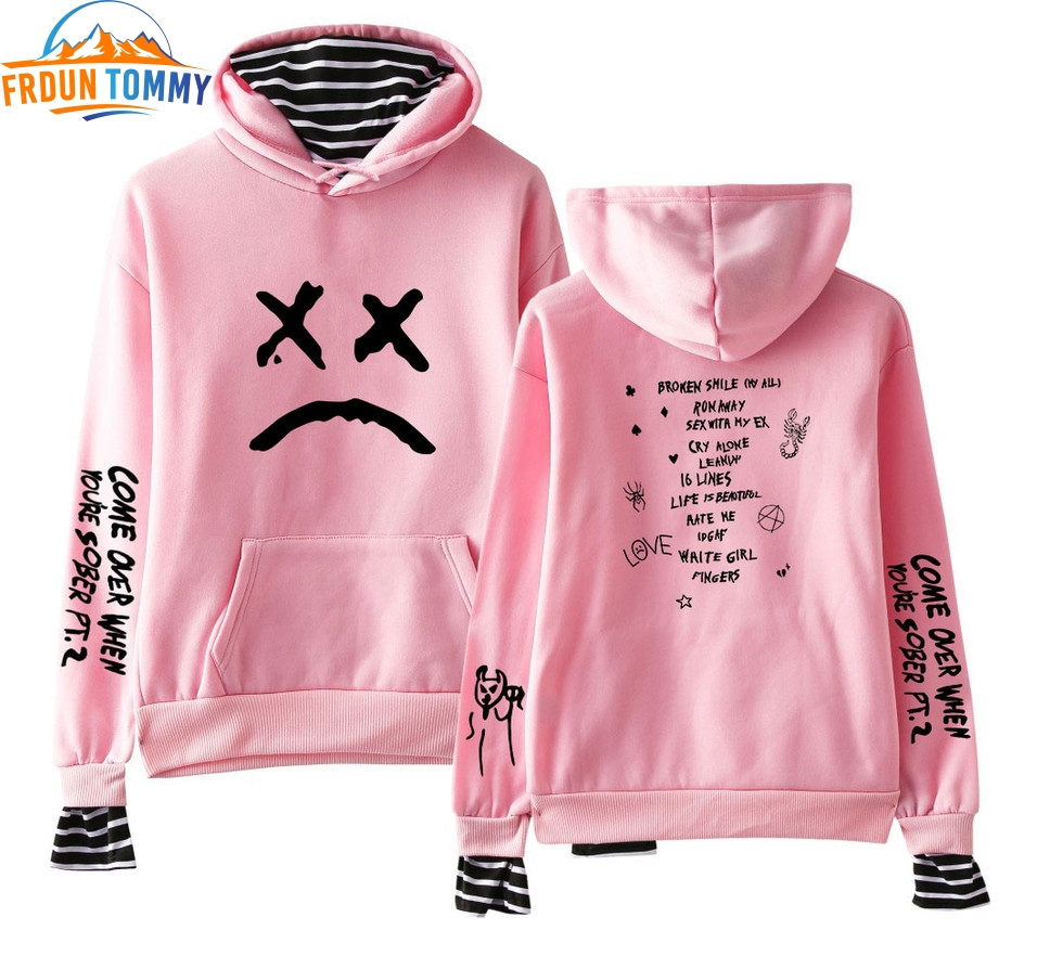 2019 Lil Peep Fake Two Pieces Hoodies Sweatshirts Autumn Men/Women Sweatshirts Lil Peep Harajuku Matching Hoodies For Couples