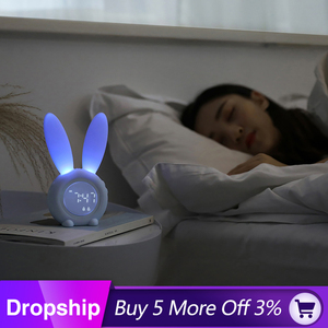 Image 1 - นาฬิกาปลุก Creative น่ารักกระต่ายนาฬิกาปลุก LED Digital Snooze การ์ตูนนาฬิกาอิเล็กทรอนิกส์สำหรับห้องรับแขก Home Supplies