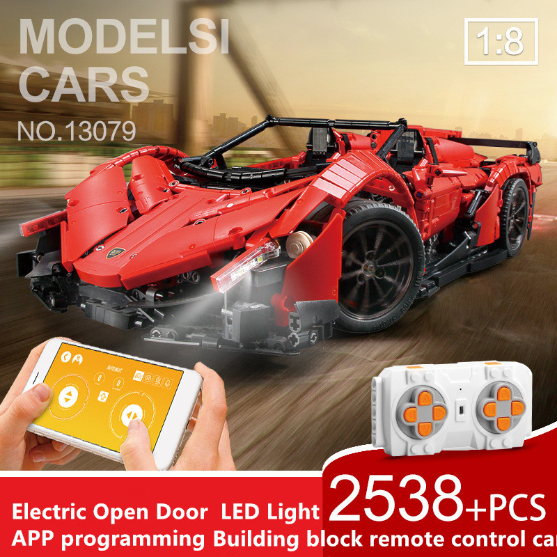 Building-Blocks Electric-Function with APP Voice-Control-Stem Programming Toy Roadster