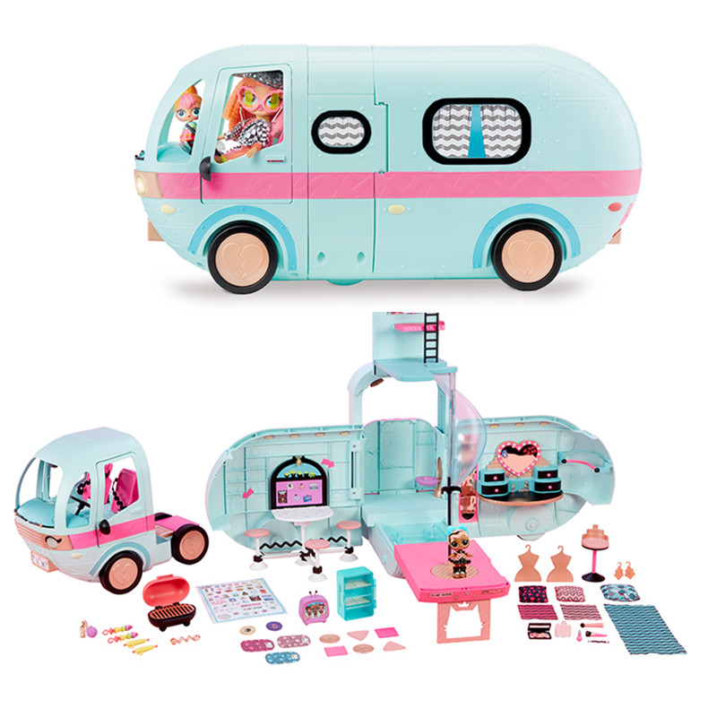 L.O.L SURPRISE ! LOL Surprise Toys Lol Dolls DIY 2-in-1 Bus Toy Lol Doll Play House Games Toys For Birthday Gifts