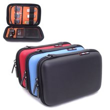 ghkjok Big size Electronics Cable Organizer Bag USB Flash Drive Memory Card 2.5 inch HDD Case Travel CASE 18x12x4.8cm