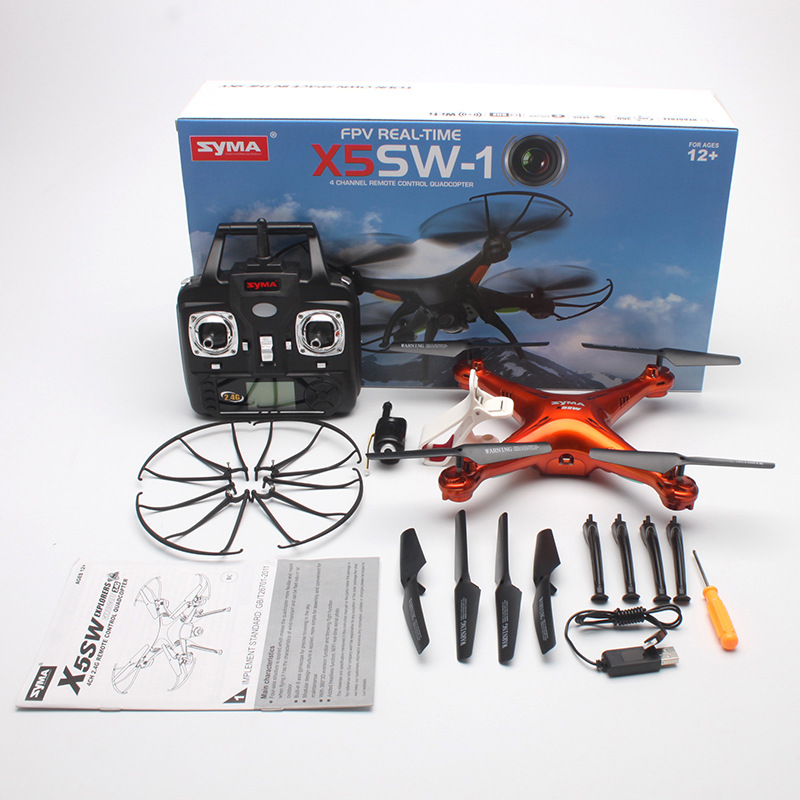 Syma x5sw rc zangão com wifi câmera fpv quadrocopter com câmera hd câmera dron 4ch rc helicóptero vs syma x5c h31